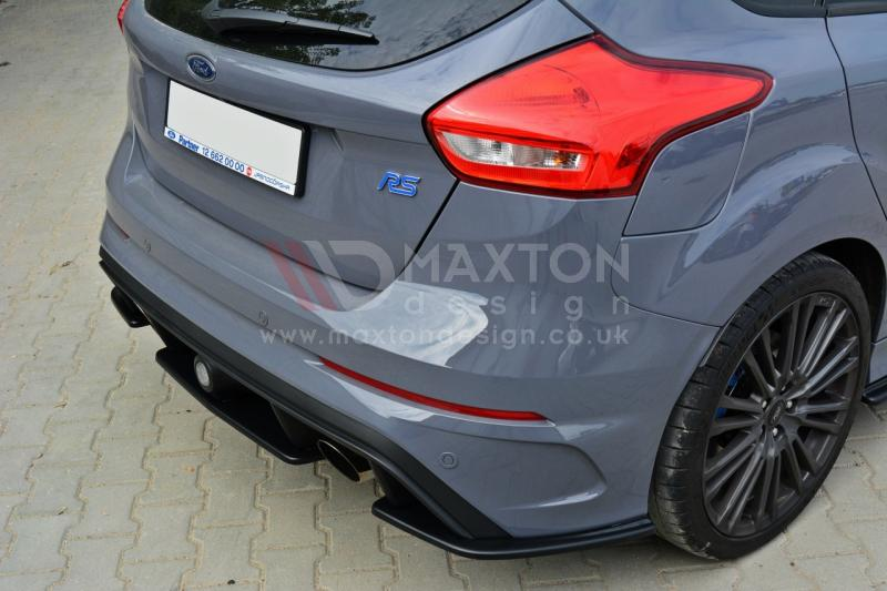 Maxton Design Rear Side Splitters//Spoilers Compatible with Ford Focus MK3 RS